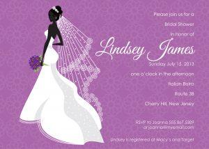 bridal shower invitation template purple bridal shower invitations template wdixbxe