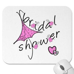 bridal shower invitation templates bridal shower mouse pad