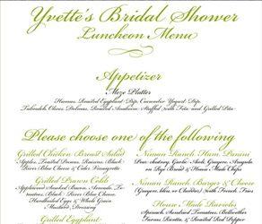 bridal shower menu effde