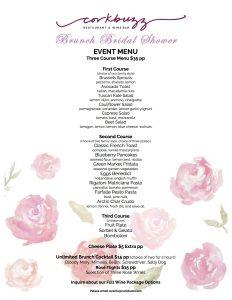 bridal shower menu brunch bridal shower menu