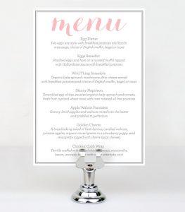 bridal shower menu il fullxfull iaia