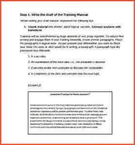 bubble letter template training manual template sample training manual template example
