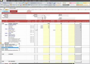 budget calendar template construction job costing spreadsheet template