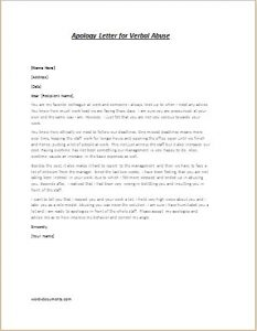 budget proposal sample apology letter for verbal abuse
