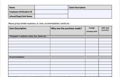 budget proposal templates expense reimbursement form