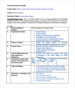 budget template pdf funding proposal template example