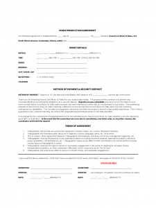 budget template pdf video production agreement form d