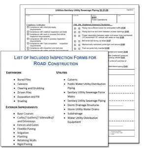 building inspection checklist road construction inspection form example