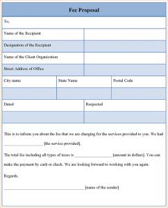 buisness letter format proposal templates feeproposaltemplate