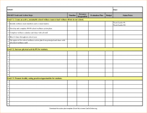 business action plan template action plan template