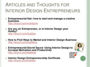 business action plan template entrepreneurship for interior designers