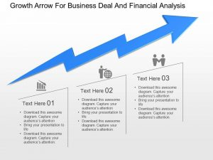 business action plan template growth arrow for business deal and financial analysis powerpoint template slide slide