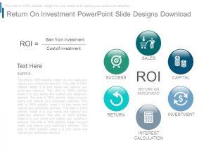business action plan template return on investment powerpoint slide designs download slide