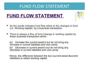 business agreement sample fund flow statement ppt