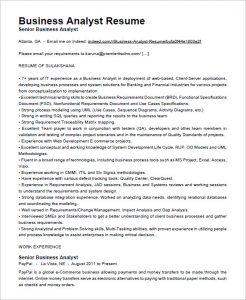 business analyst resumes business analyst resume free download