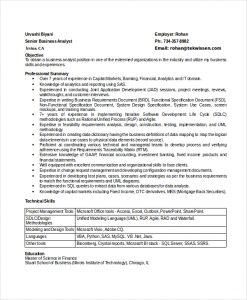 business analyst resumes senior business analyst resume