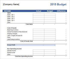 business budget template free business budget template
