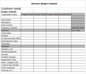 business budget template sample business budget template