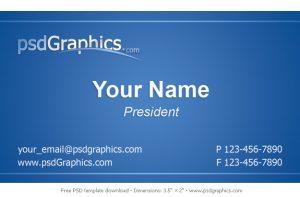business card format blue business card template