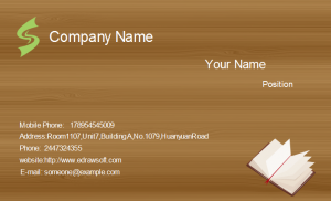business card format wood texture business card front
