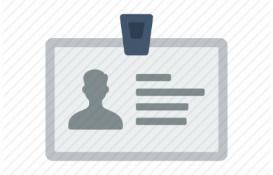 business card icons id card