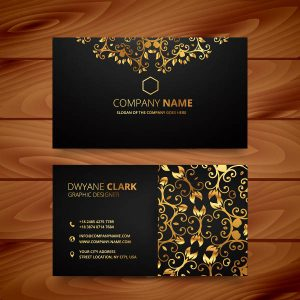 business card template download gold design business card