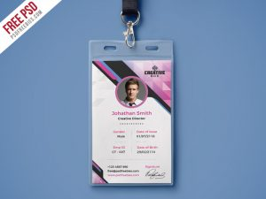 business cards icons company photo identity card psd template