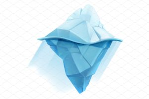 business cards icons iceberg low poly style vector icon converted