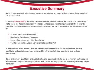 business case analysis example applicant tracking system business case