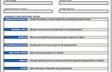 business case template project business case proposal template value generation partners