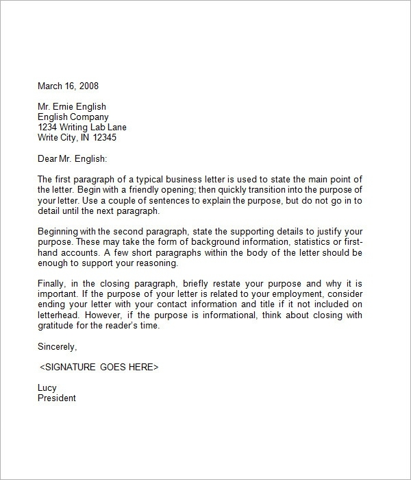 business closing letter