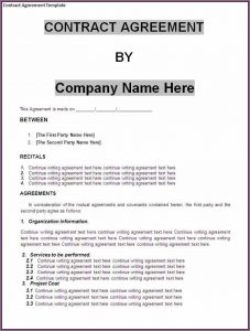 business contract sample business contract template free contract templates for small business rumbcokc