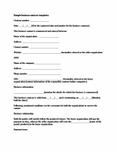 business contract sample sample business contract template x