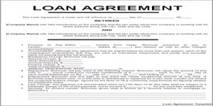 business contract template loan agreement