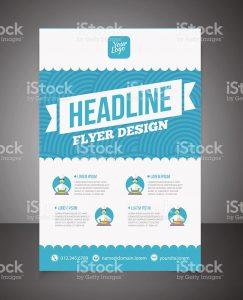business flyer template business brochure or offer flyer design template vector id