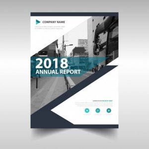 business flyer template creative annual report book cover template