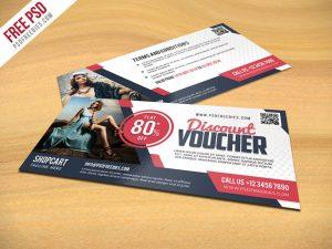 business flyer template discount voucher psd template freebie