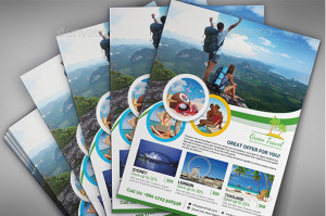 business flyer template travelflyer