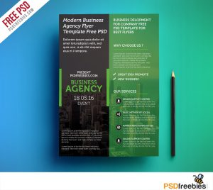 business flyer templates free modern business agency flyer template free psd