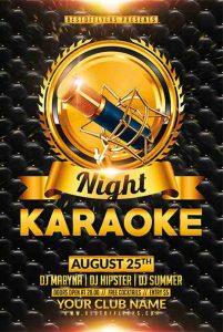 business flyers template free karaoke night free flyer template freepsdflyer com