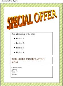 business flyers templates special flyer template
