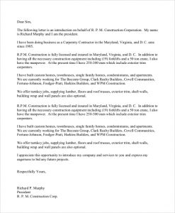 business introduction letter business contract introduction letter
