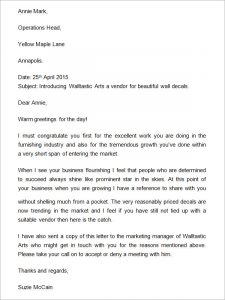 business introduction letter company introduction letter