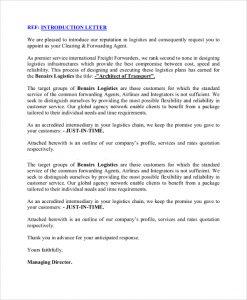 business introduction letter transport business introduction letter