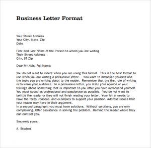 business letter form sample pdf business letters format
