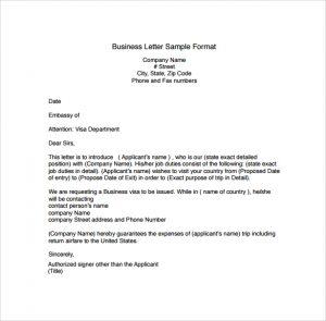 business letter format business letter sample format