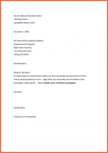 business letter format example business letter format example formal business letter