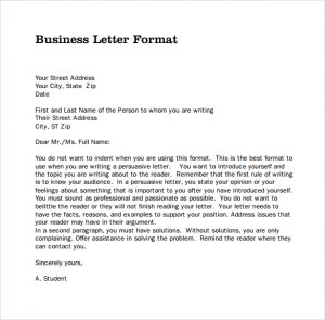 business letter format example sample pdf business letters format