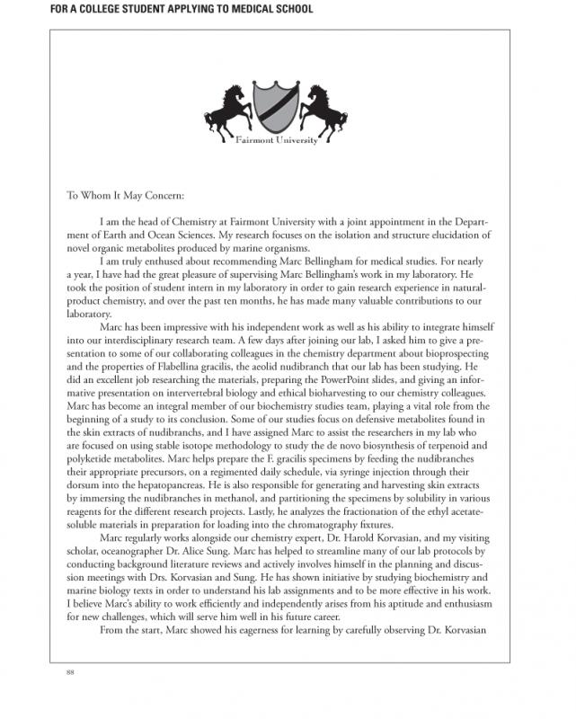 business letter of recommendation