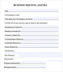 business meeting agenda template business meeting agenda template pdf